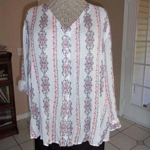 Drop-Shoulder Loose-Fit Shirt-Tail Casual Shirt